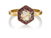 Cathy Waterman Women's Hex Ring Gold