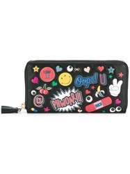 Anya Hindmarch Multiple Patches Zipped Wallet Black