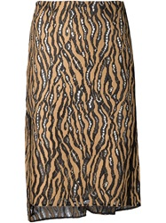 3.1 Phillip Lim Lace Cut Out Skirt Brown