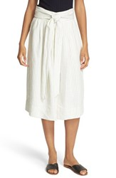 Sea Women's Stripe Tie Waist Linen Skirt