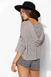 Staring At Stars Beach Hooded Sweater Grey