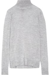 J.Crew Cashmere Turtleneck Sweater Gray