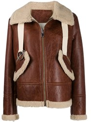 Liska Shearling Lined Jacket Brown