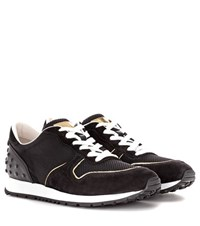 Tod's Sportivo Suede And Fabric Sneakers Black