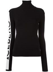 Iceberg Sleeve Logo Jumper Black