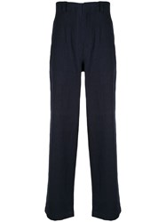 Kent And Curwen Loose Fit High Waisted Trousers 60