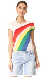 Alice Olivia Ester Rainbow Pullover Natural Multi