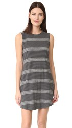 The Lady And The Sailor Muscle Tank Mini Dress Charcoal Auto Stripe