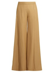 Acne Studios Melora Wide Leg Twill Trousers Camel