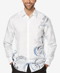 Cubavera Men's Showstopper Long Sleeve Shirt Bright White