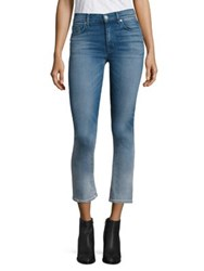 Hudson Harper Ombre High Rise Cropped Flared Jeans Teammate