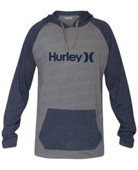 Hurley One And Only Colorblocked Raglan Hoodie Wolf Grey