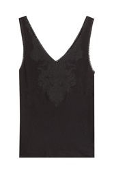 Polo Ralph Lauren Tank With Lace Black