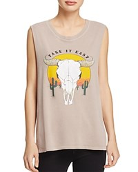 Project Social T Take It Easy Muscle Tank Sepia