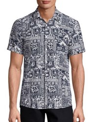 The Kooples Hello Hawaii Shirt Navy
