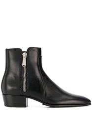 Balmain Mike Ankle Boots Black