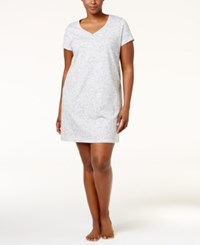Charter Club Plus Size Henley Style Printed Sleepshirt Only At Macy's Vineyard