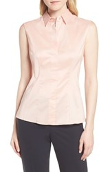 Boss Bashiva Stretch Poplin Blouse Blush