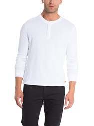Levi's Refined Long Sleeve Henley Top White