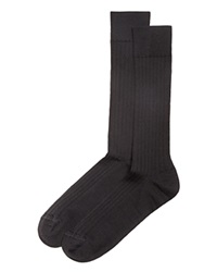 The Men's Store At Bloomingdale's Ribbed Dress Socks Black