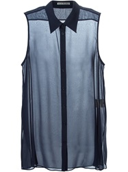 Acne Studios Sleeveless Sheer Shirt Blue