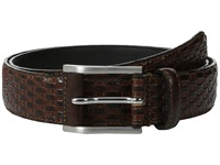 Stacy Adams Embossed Basker Weave 32Mm Full Grain Leather Top Brown Men's Belts