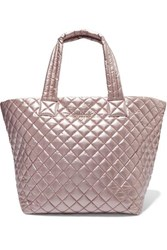 M Z Wallace Mz Metro Medium Metallic Quilted Shell Tote One Size