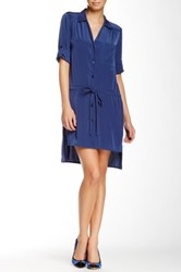 Glam Button Up Dress Blue