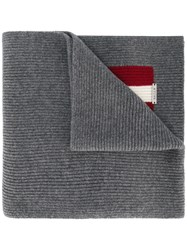 Bally Knitted Scarf Women Wool One Size Grey