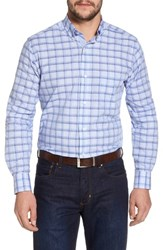 Tailorbyrd Banks Regular Fit Check Sport Shirt Chambray