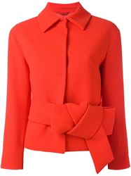 L'autre Chose Belted Blazer Red