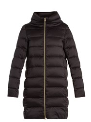 Herno Funnel Neck Quilted Down Coat Black