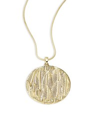 House Of Harlow Leaf Pendant Necklace Gold
