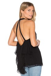 Ramy Brook Beatrice Halter Tank Black