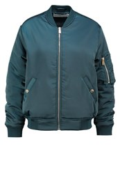 Ivy Revel Victory Bomber Jacket Teal Green Turquoise
