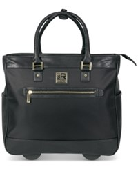 Kenneth Cole Reaction Call It Off 16 Rolling Business Tote And Carry On Bag Black