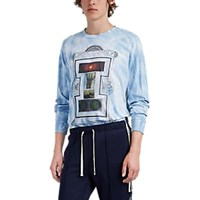Ovadia And Sons Advising Wonder Cotton Long Sleeve T Shirt Blue