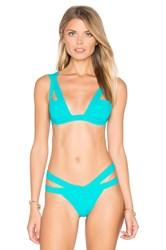 Kopper And Zink Logan Bikini Top Turquoise