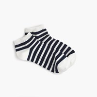 J.Crew Striped Athletic Ankle Sock