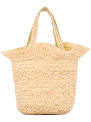 Shrimps Straw Tote Bag Brown