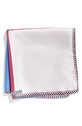 Men's J.Z. Richards Multipattern Silk Pocket Square Pink