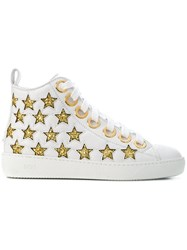 N 21 No21 High Top Star Sneakers White