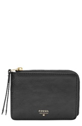 Fossil 'Sydney' Leather Coin Pouch Black