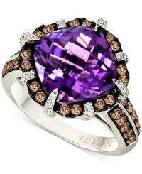 Le Vian Amethyst 4 4 5 Ct. T.W. And Diamond 3 4 Ct. T.W. Ring In 14K White Gold
