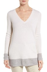 Nordstrom Women's Collection Contrast Trim Cashmere Pullover