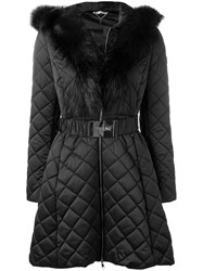 Liu Jo Quilted Hooded Parka Black