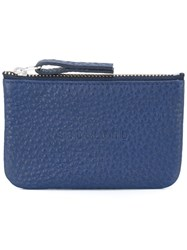 Soulland Embossed Front Wallet Blue
