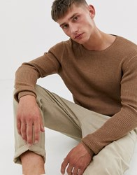 French Connection Cable Crew Neck Jumper Tan
