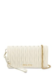 Miu Miu Mini Quilted Leather Shoulder Bag White