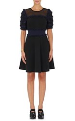 Opening Ceremony Women's Ruffled Fit And Flare Dress Black